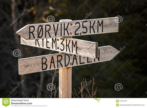 wooden road sign stock  image