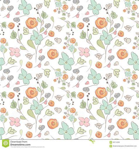 pattern elegant illustrator elegant seamless pattern with flowers vector illustration