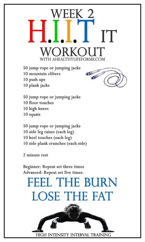 hiit workout week   healthy life