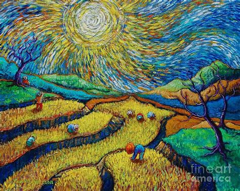 van gogh basic art toil today dream tonight diptych painting number 1 after van gogh lidspiration
