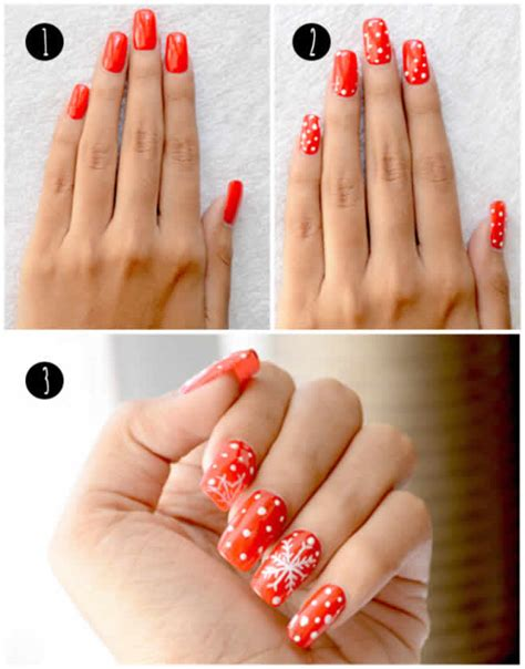 easy christmas nail art without tools 15 fabulous christmas nail art tutorials that are simply