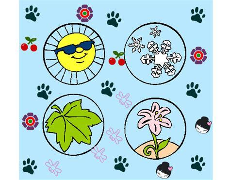 imagenes para colorear las estaciones del año dibujo de estaciones del a 241 o pintado por marisol110 en