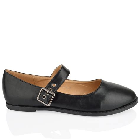 black flat shoes with buckle womens flats office bow black school buckle