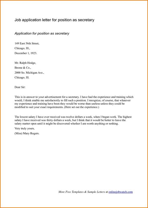 what is a cover letter for job application use this example to
