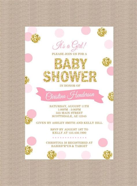 pink baby shower invitation templates best 25 baby invitations ideas on baby