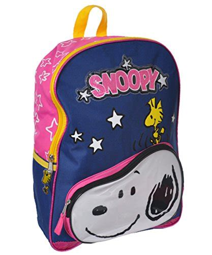 Snoopy Front peanuts snoopy front pocket with woodstuck 16 quot school backpack bag 11street malaysia