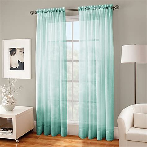 home decorators collection sheer sand rod pocket printed crushed voile sheer rod pocket window curtain panel bed