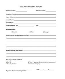 Sample Security Guard Incident Report Incident Report Form Example