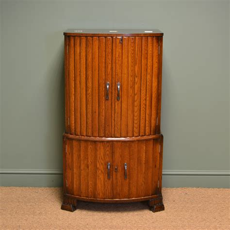 deco drinks cabinet antique deco oak drinks cabinet with fitted