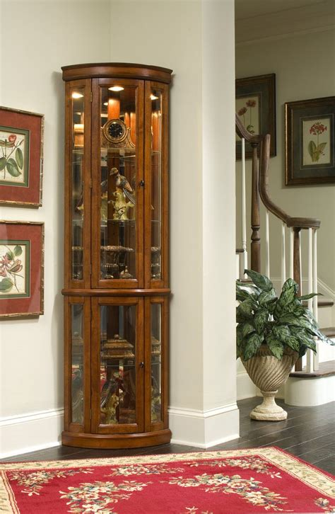 lighted corner curio cabinet cherry exquisite corner curio cupboard ikearoute homefurniture org