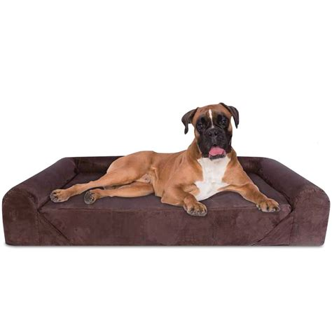 orthopedic dog beds large dog bed orthopedic memory foam with pillow grey extra