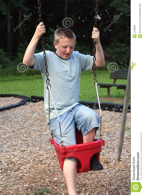 trying swinging too big to swing 2 stock images image 1278094