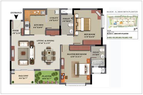 Mantri Glades Floor Plan Glades Landscape 2 2 5 3 Bhk