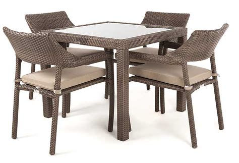 top outdoor dining table nico outdoor dining table with glass top for 4 ogni