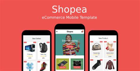 themeforest ionic app download shopea ecommerce mobile template wordpress