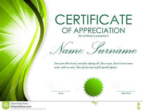 certification of appreciation templates certificate certificate of appreciation template