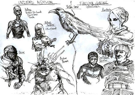 dark souls undead asylum and firelink shrine by menaslg