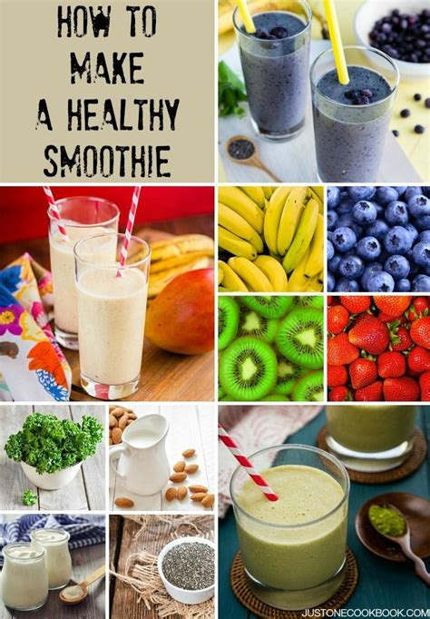 how to make healthy smoothies easy japanese recipes at justonecookbook com food pinterest