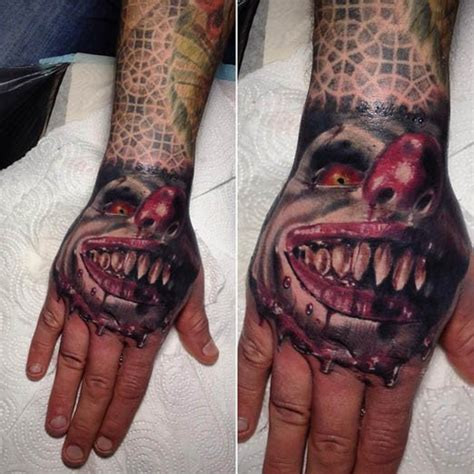 36 creepiest clown tattoos designbump