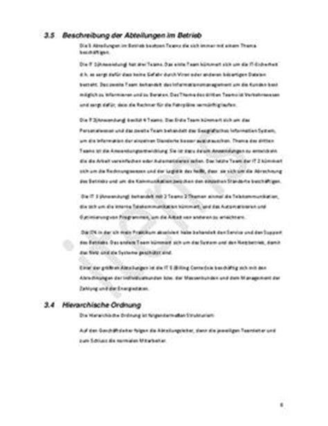 Vorgangsbeschreibung Praktikum Vorlage Praktikumsbericht Muster