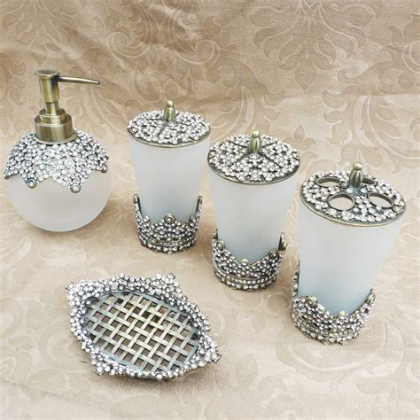 Rhinestone Bathroom Accessories Popular Rhinestone Bathroom Set Buy Cheap Rhinestone Bathroom Set Lots From China Rhinestone