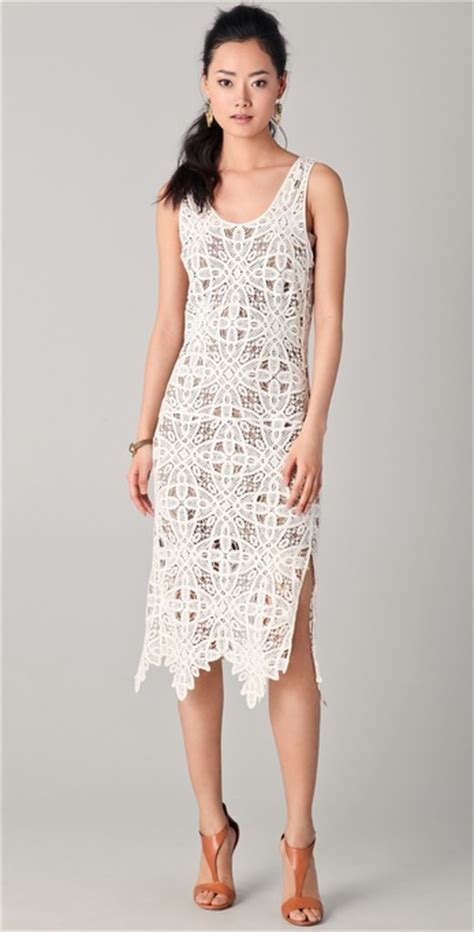 Tj Maxx by Addison Crochet Lace Dress In White Lyst