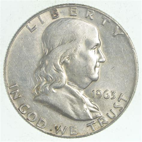 choice au 1963 d franklin half dollar 90 silver property room