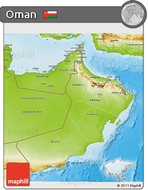 physical map of oman free physical 3d map of oman