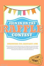 Design A Winning Raffle Flyer Postermywall Raffle Flyer Template Free