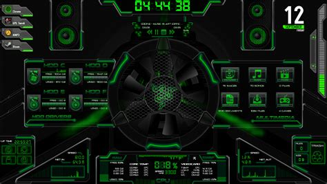 best themes games asus rog rainmeter best theme by bigheadlover on deviantart