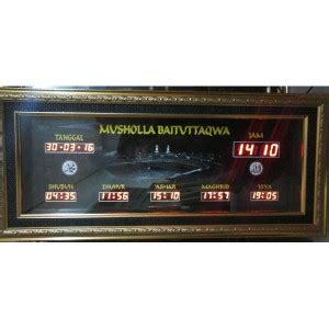 Jual Timbangan Digital Jakarta Timur galeri portofolio jam digital masjid jadwal sholat digital otomatis jdm id jam digital