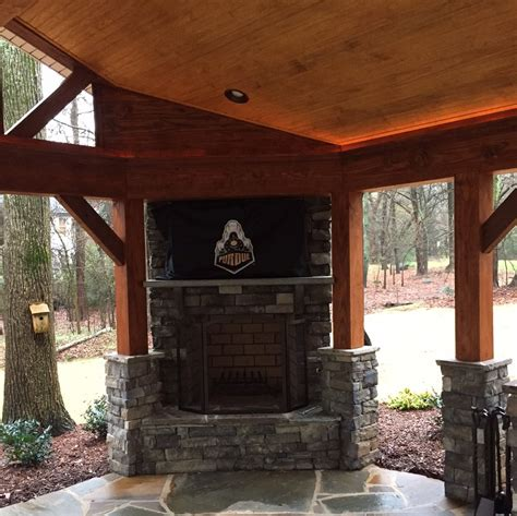 Outdoor Fireplace Stacked Tempting And Brick Outdoor Fireplace Stacked Stone Tempting And Brick