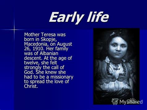 mother teresa early life biography презентация на тему quot mother teresa horoshilova natasha