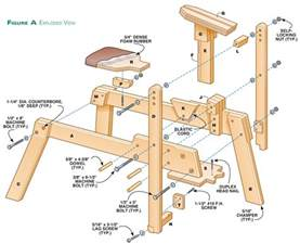 Diagram Of A Bench Vice Wood Shaving Horse Plans Pdf Pdf Plans
