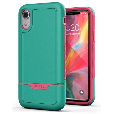 iphone xr protective grade rugged protection rebel teal walmart