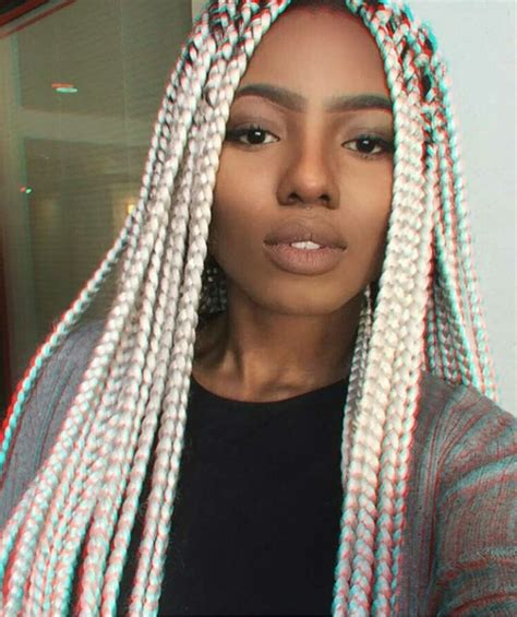 saved hair in the back and box braids in the front 412 best images about ethnic hair on pinterest