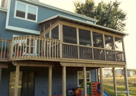 Shed Roof Porch Designs by Two Story Decks And Porches Shed Roof Screen Porch And