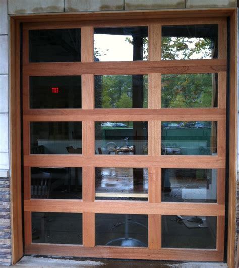 Wood And Glass Garage Door by Wood Garage Doors And Carriage Doors Clearville
