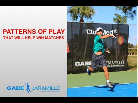 pattern play youtube patterns of play that help to win tennis matches youtube