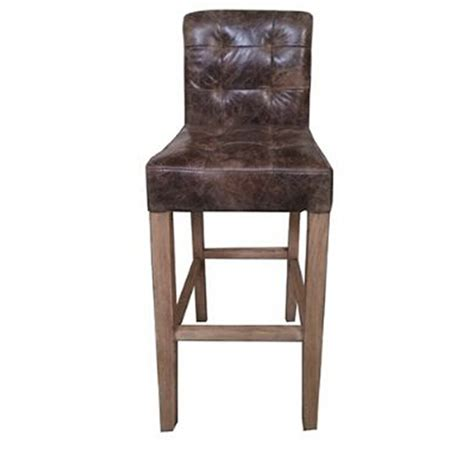 Distressed Leather Bar Stools by Vintage Club Distressed Leather Bar Industrial Stool Buy
