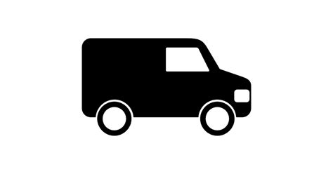 Design A Home Free App by Van Black Side View Free Transport Icons