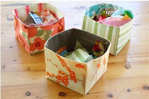pattern for a fabric box pretty fabric bin organization 5 free patterns tip junkie