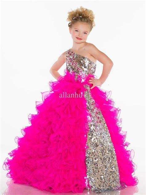 Cute girl dress pageant dress for little girls party dress beauty sash