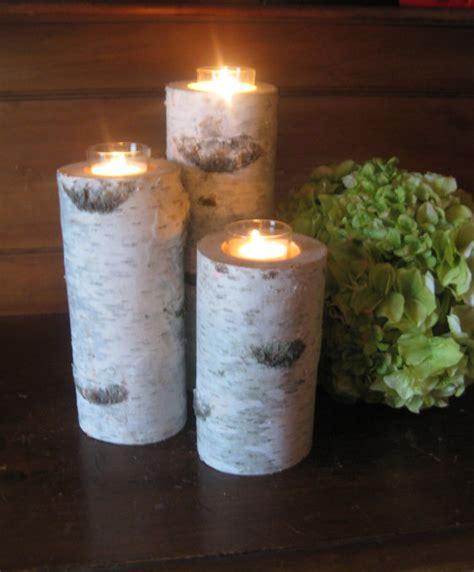 votive candle centerpieces items similar to 3 birch bark votive candle holders 10 quot 8 quot 6 quot wedding centerpieces bridal