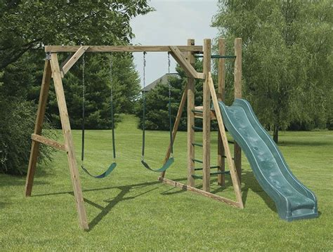 wood swing frame a frame wooden swing set plans google search kids