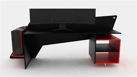 Desks For Gaming Prospec Designs A Custom Made Desk For 22 Quot Monitors For