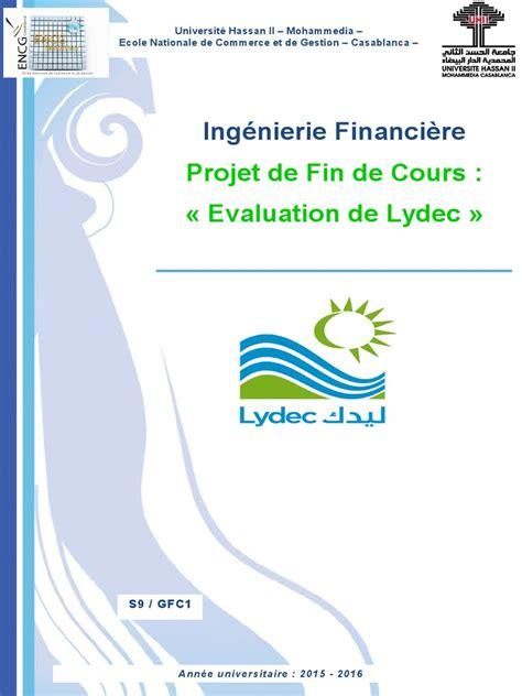 rapport sur la sant 233 financiere de lydec