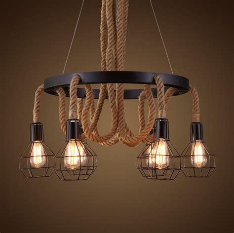 Rope Light Fixtures Edison Loft Style Vintage Pendant Light Fixtures Rh Industrial Hemp Rope Water Pipe Hanging L