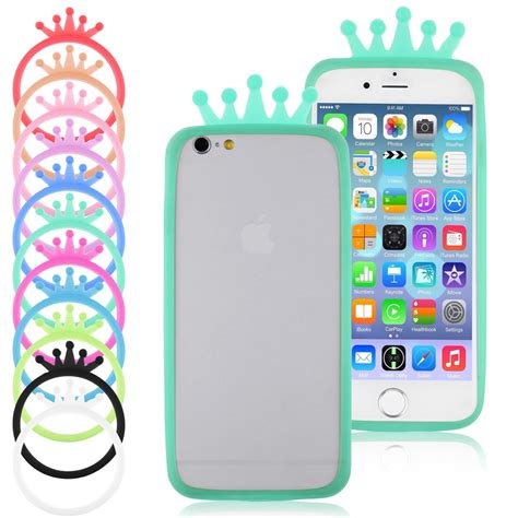 Softcase Disney Tiara Glow In The For Iphone 6g6s universal fluorescent crown soft gel silicone bracelet bumper phone ebay