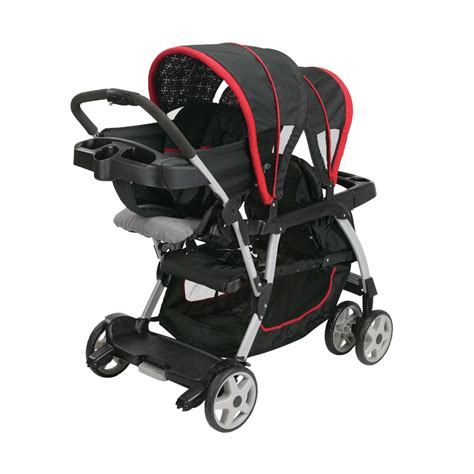 stroller with 2 infant car seats product graco click connect seated stroller and